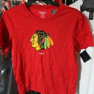 Womens Chicago Blackhawks Logo T-Shirt